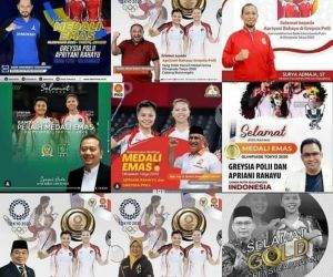 Marak Poster Politikus bareng Greysia-Aprilyani, Pengamat: Pencitraan yang Tak Etis