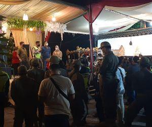 Hajatan Rumah Kades dengan Hiburan Elektone dan Wayang, Dibubarkan Aparat Sidoarjo