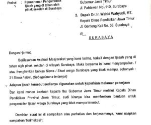 DPRD Surabaya Surati Gubernur dan Dinas Pendidikan Jatim