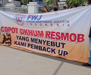 Oknum Resmob Polres Depok Diduga Usir Wartawan, FWJ Indonesia Geruduk Polres