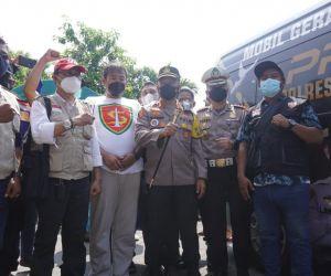 Polrestabes Surabaya Gandeng Komunitas Jogo Boyo Gelar Vaksinasi