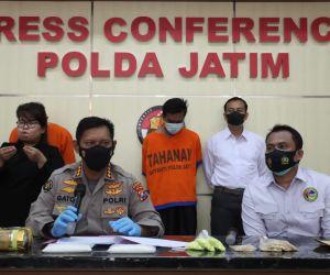 Ditresnarkoba Polda Jatim Tangkap 2 Pengedar Narkoba Antar Provinsi