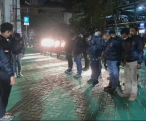 Ciptakan Situasi Aman, Unit Jatanras Polrestabes Surabaya Lakukan Patroli Malam