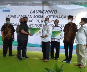 BPJAMSOSTEK Launching RT-RW dan LPMK Sadar Jamsostek