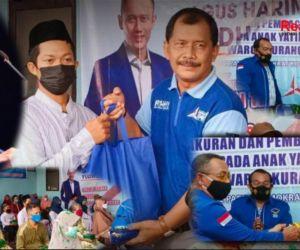 AHY Menang, Demokrat Kota Madiun Gelar Syukuran Bagi Sembako