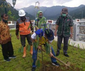 Sabuk Hijau Bendungan Tukul Pacitan Ditanami Pohon Buah