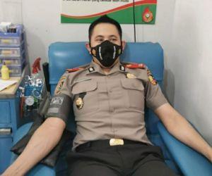 Kompol Prianggo P. Malau, Serdik Sespimmen Angkatan 61, Gelar Donor Darah