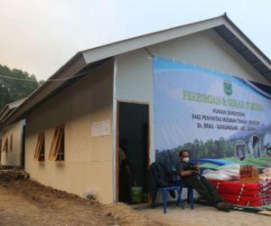 Wali Kota Batu Resmikan Penggunaan 15 Unit Huntara di Dusun Brau