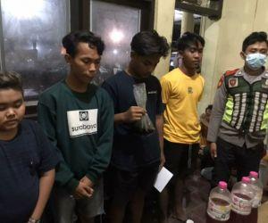 Pesta Miras, Lima Pemuda di Sumenep Diamankan Polisi