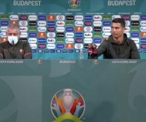 Cukup Hanya dengan Pindahkan Botol, Ronaldo Sudah Bikin Saham Coca Cola Terjun Bebas