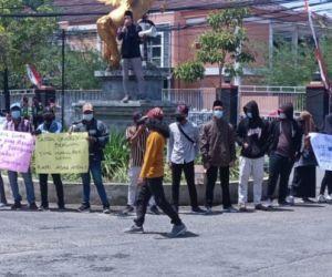 Demo Kantor Pemkab Sumenep, GPMS Minta Bupati Fauzi Evaluasi Kinerja 9 OPD