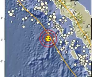 Nias Barat Digoncang Gempa Sembilan Kali