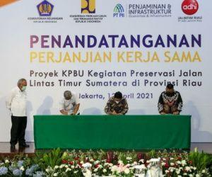 Kementerian PUPR Gandeng Badan Usaha Pelihara Jalintim di Riau