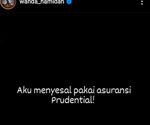 Merasa Ditipu Prudential, Wanda Hamida Curhat di Instagram